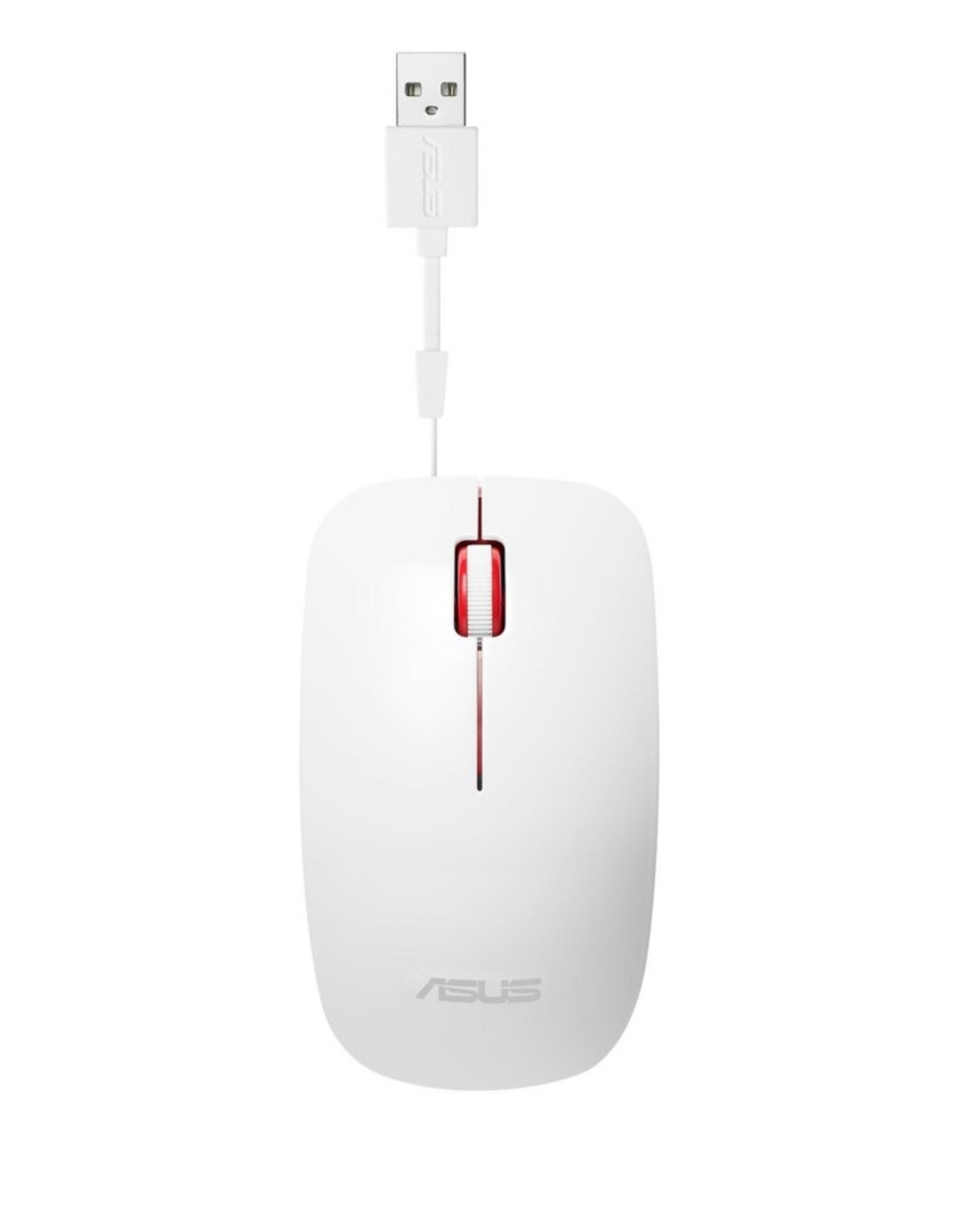 Asus ASUS UT300 muis USB Type-A Optisch 1000 DPI White / Red