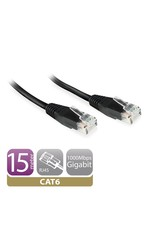 Ewent CAT6 Networking Cable copper 15 Meter Black