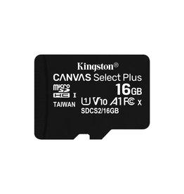 Kingston Technology Canvas Select Plus flashgeheugen 16 GB MicroSDHC Klasse 10 UHS-I