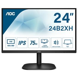 AOC Mon  23.8 F-HD / Borderless / HDMI / VGA / Black (refurbished)