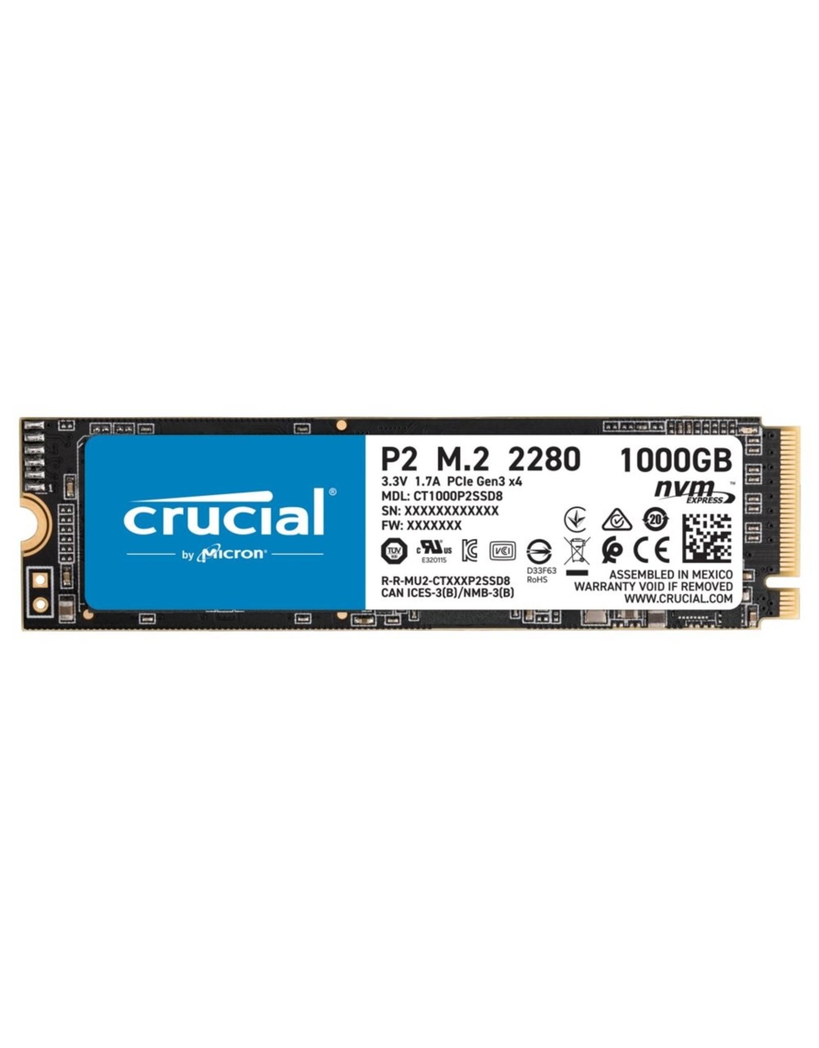 Crucial SSD  P2 M.2 1TB PCI Express 3.0 NVMe