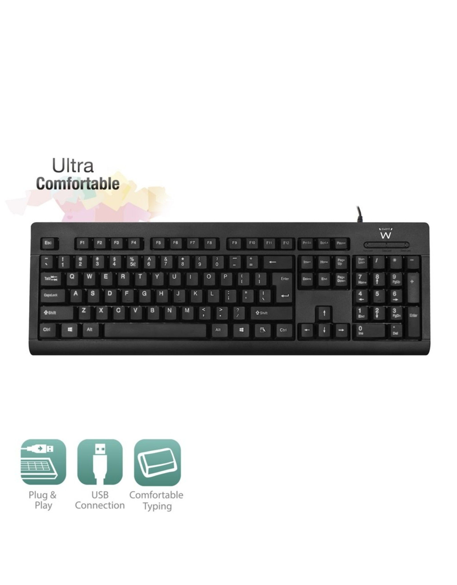 Ewent Keyboard US lay-out USB  Business Model