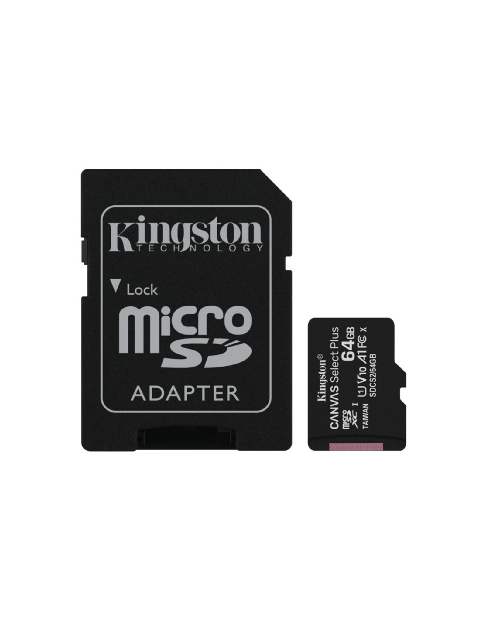 Kingston SDCARD  Canvas Select MicroSD 64GB Class10 + adapter