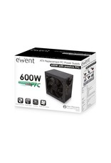 Ewent PSU ATX 600W, PPFC, V3.1, 4xSata