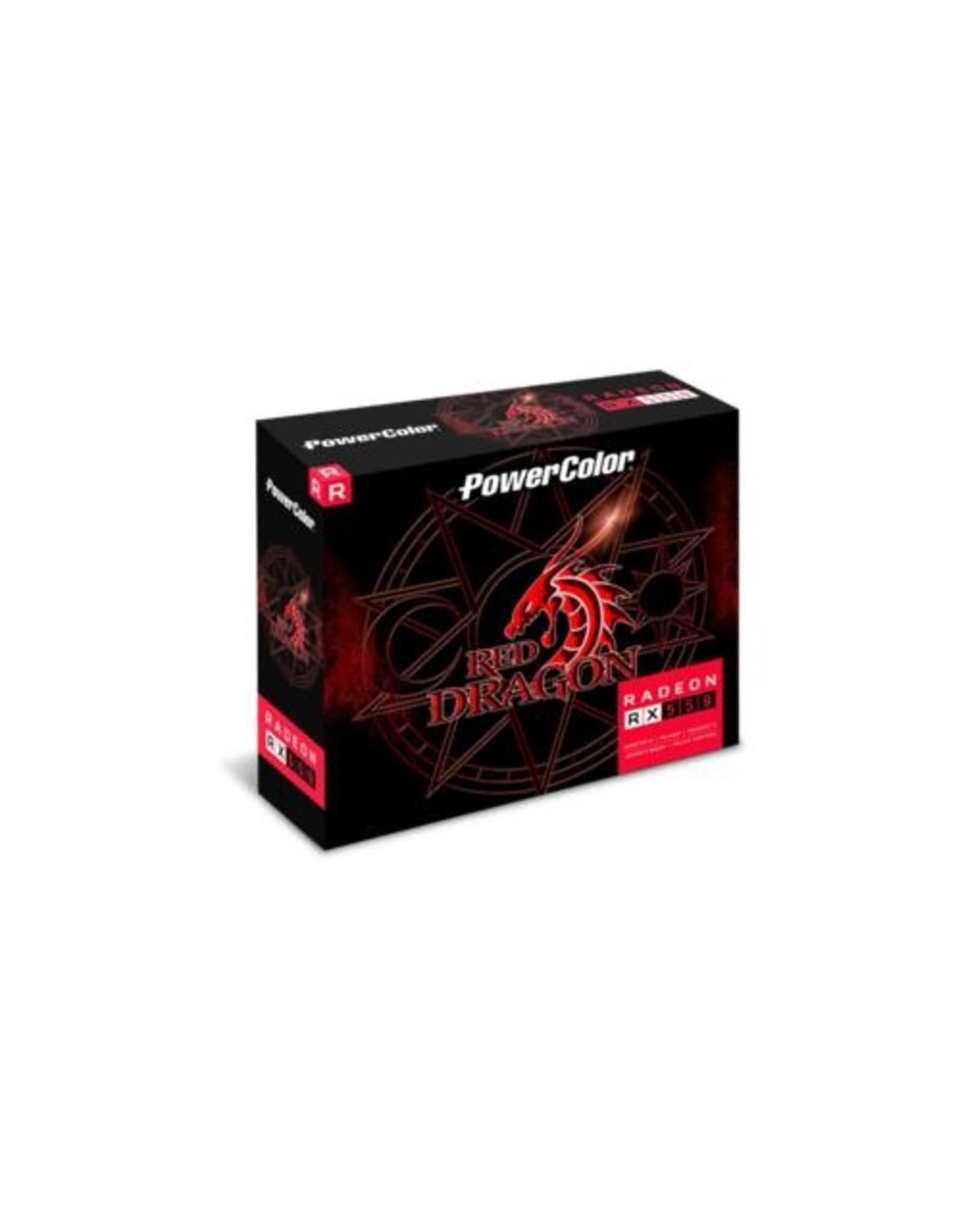 Powercolor VGA PowerColor Red Dragon Radeon RX 550 AMD 4 GB GDDR5