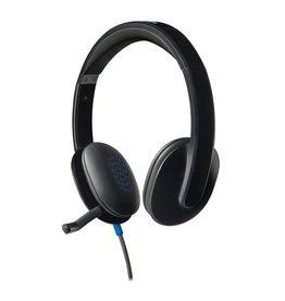 Logitech H540 USB Computer Headset Met high-definition geluid en knoppen op het oorstuk