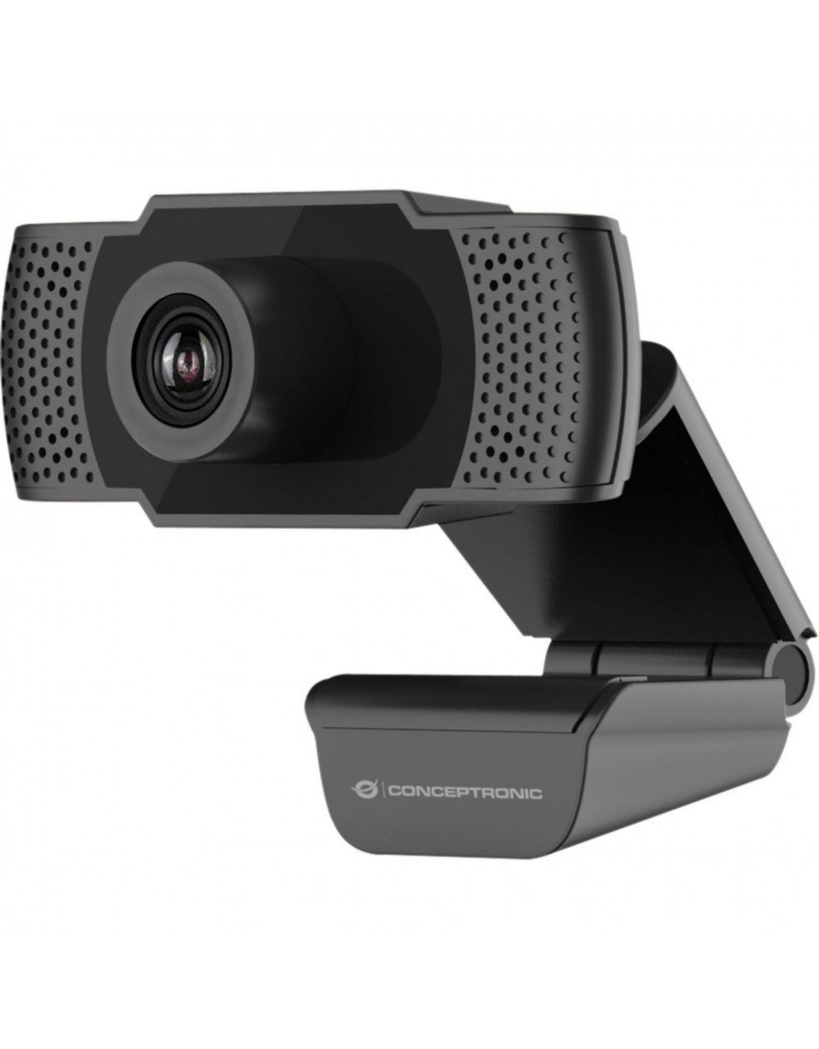 OEM Conceptronic AMDIS webcam 2 MP F-HD USB 2.0 Zwart