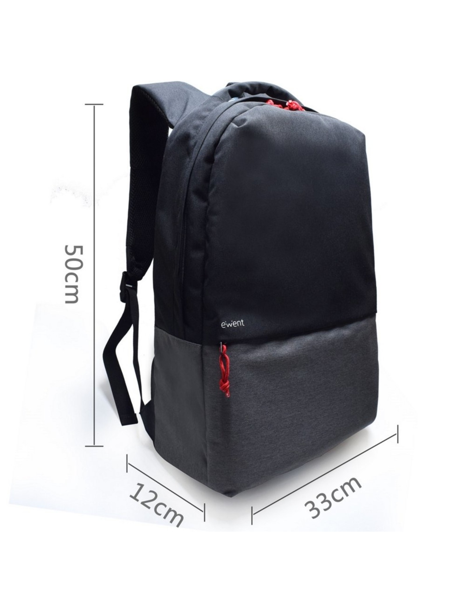 Ewent Urban Notebook Backpack 17.3, BLACK/GREY with USB conn