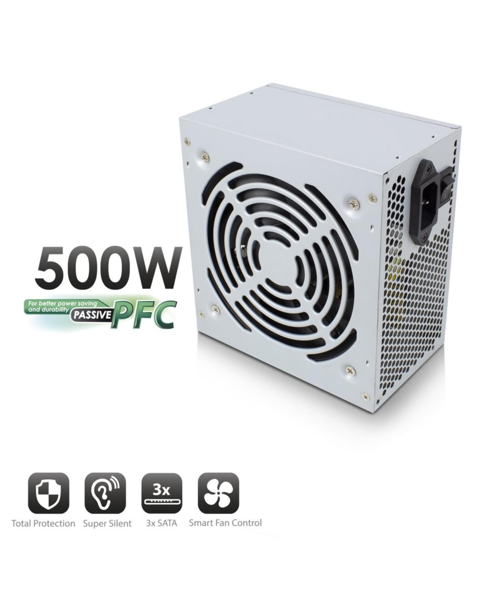 Ewent PSU ATX 500W, PPFC, V3.1, 3xSata