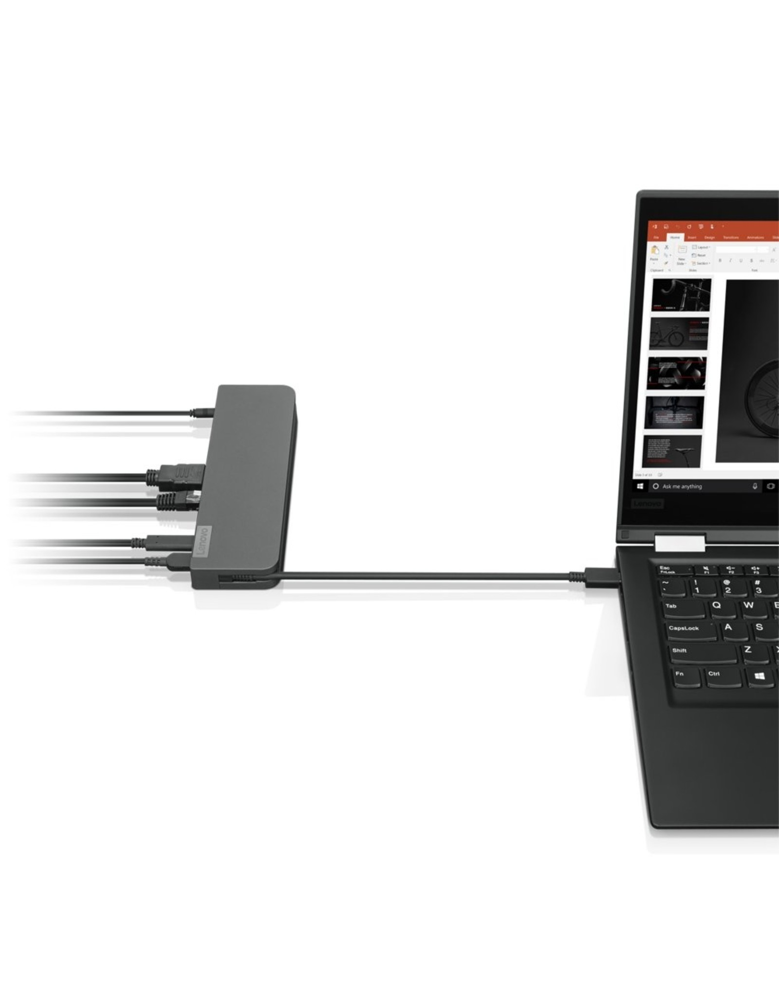 Lenovo USB-C Mini Docking Station Bedraad Grijs