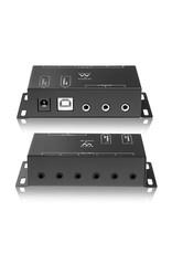 Ewent Remote control extender kit, 1 x receiver, 12 x emit