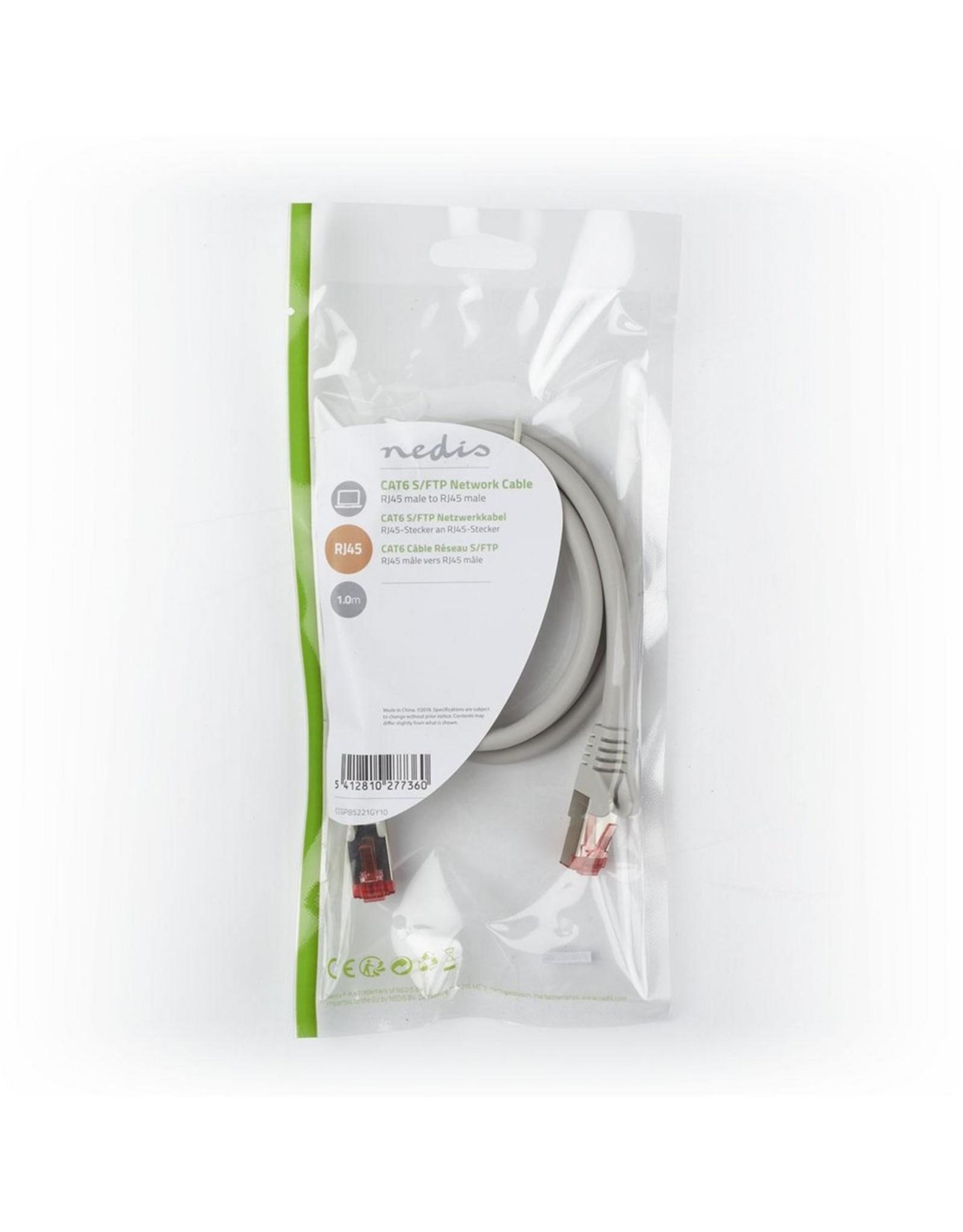 OEM S/FTP CAT6 RJ45netwerkkabel 1,0 m grey