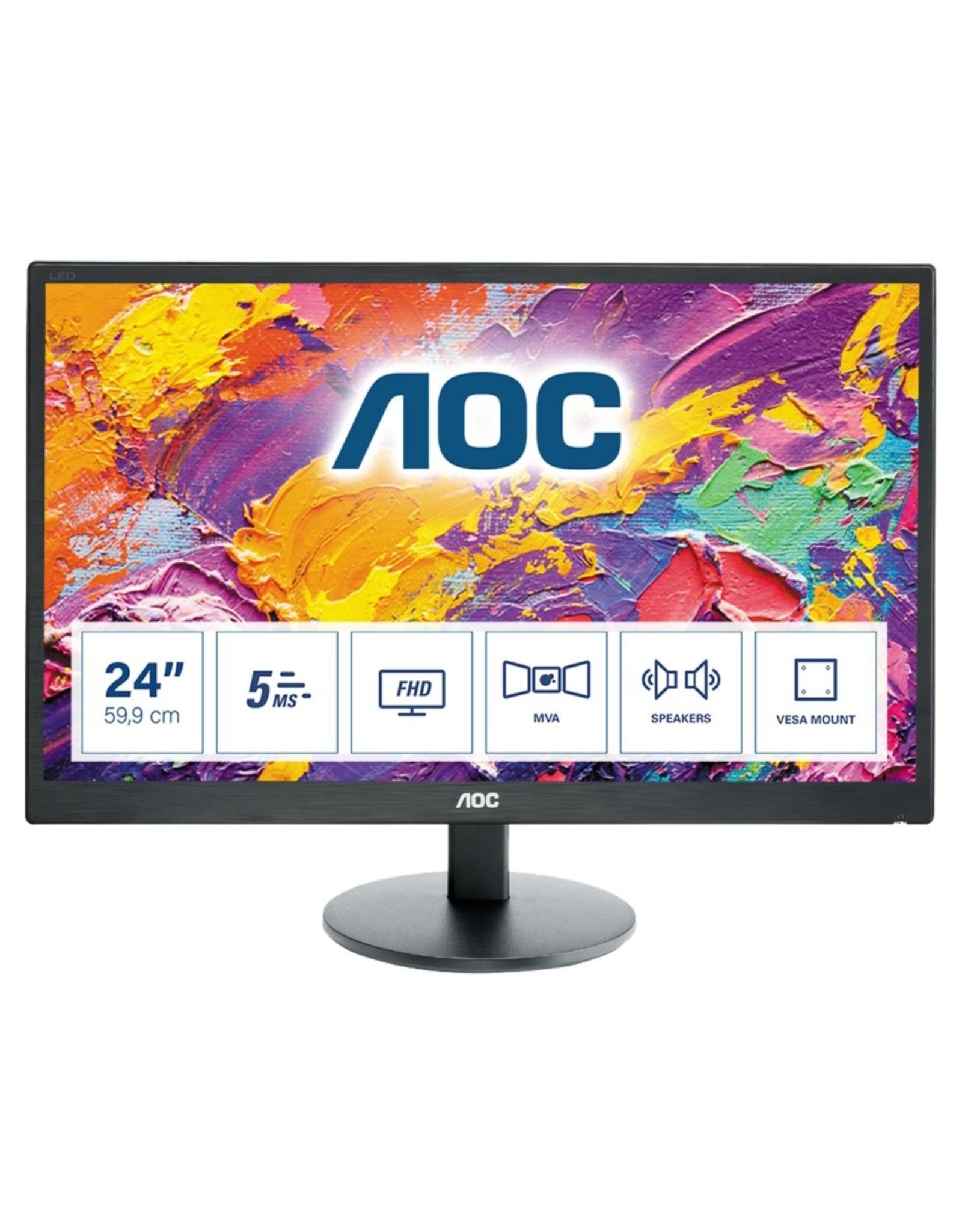 AOC Mon  M2470SWH 23.6inch / LED / HDMI / F-HD / SPK / BLACK
