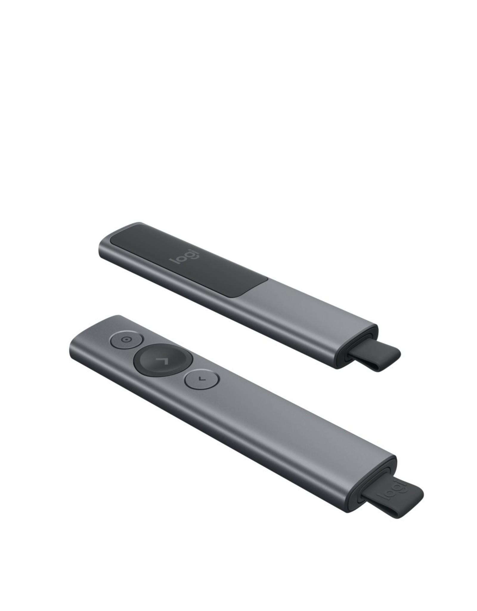 Logitech Spotlight Draadloze presenter Bluetooth/RF Grijs