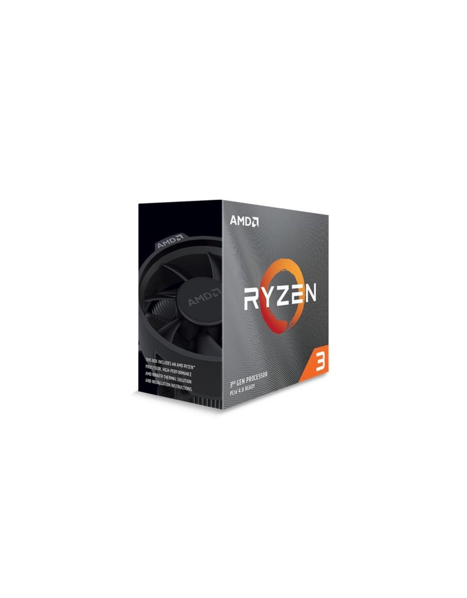 AMD CPU  Ryzen 3 3100 / AM4 / 4core / 3.1-4.1GHz/ NO GPU /Box