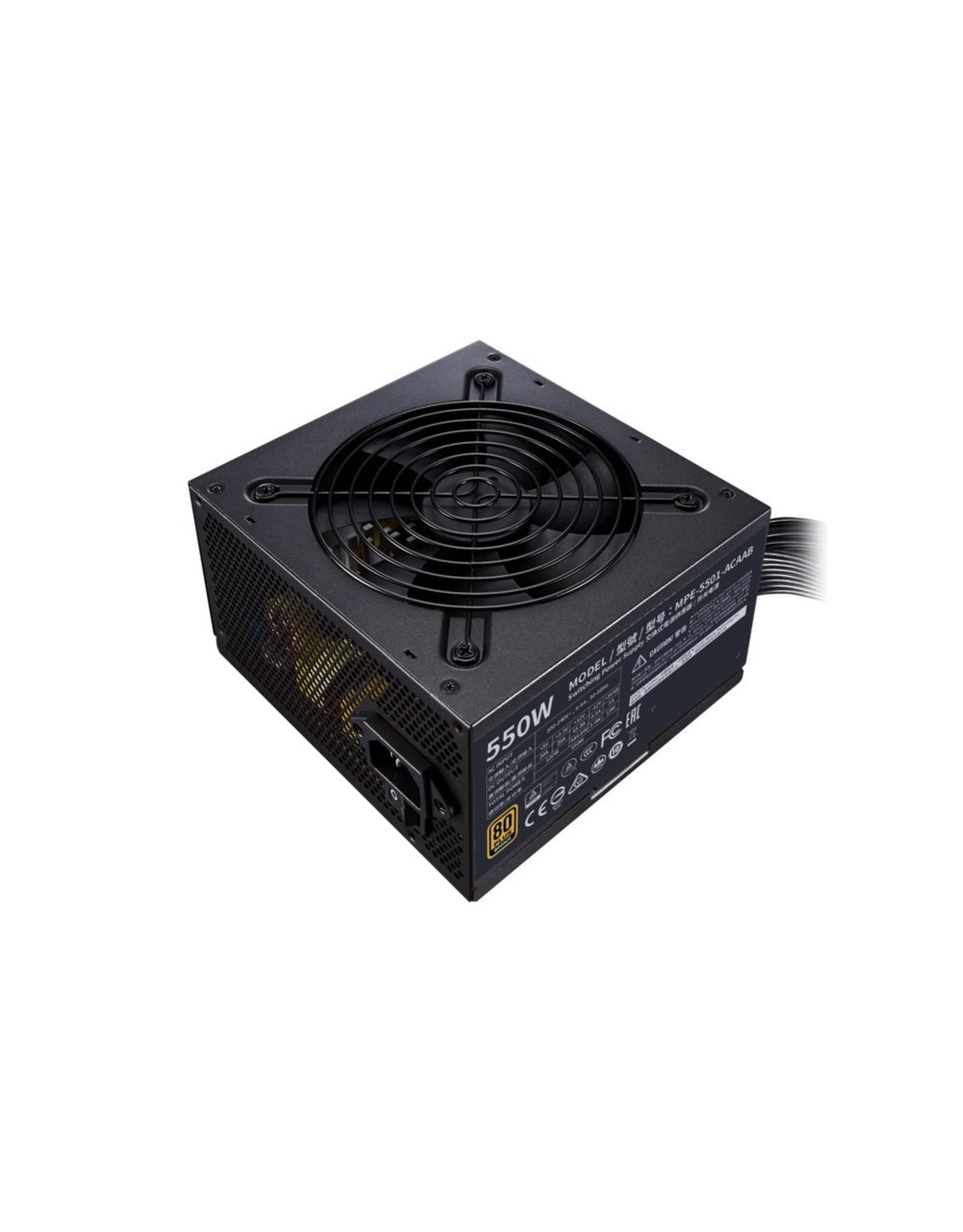 CoolerMaster PSU Cooler Master MWE 550 Bronze V2 550W 20+4 pin ATX Zwart