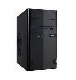 """OEM Case 727-22 Black 450Watt M-ATX USB 3.0 """"Steel Brushed"""""""