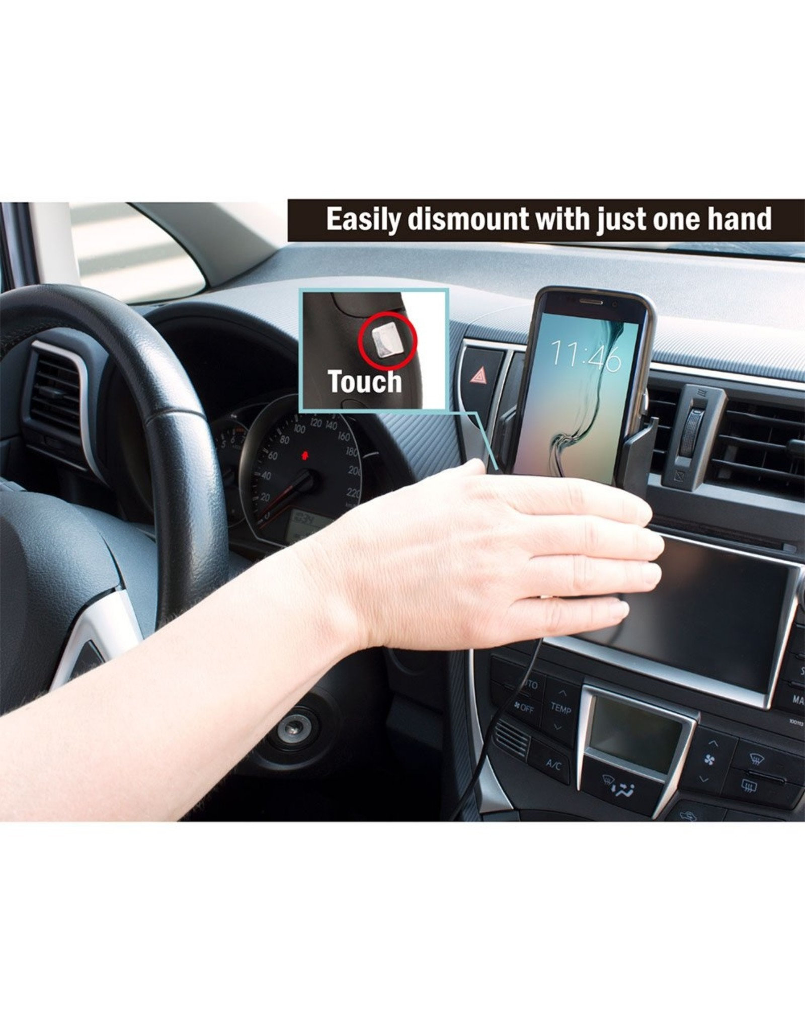 Ewent Automatic Smartphoneholder Car + Wireless FastCharge