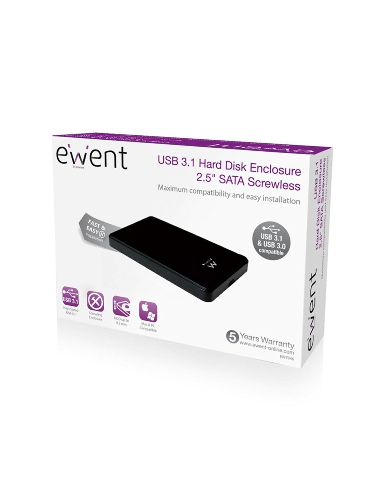 Ewent Behuizing 2.5Inch SATA SSD/HDD Screwless