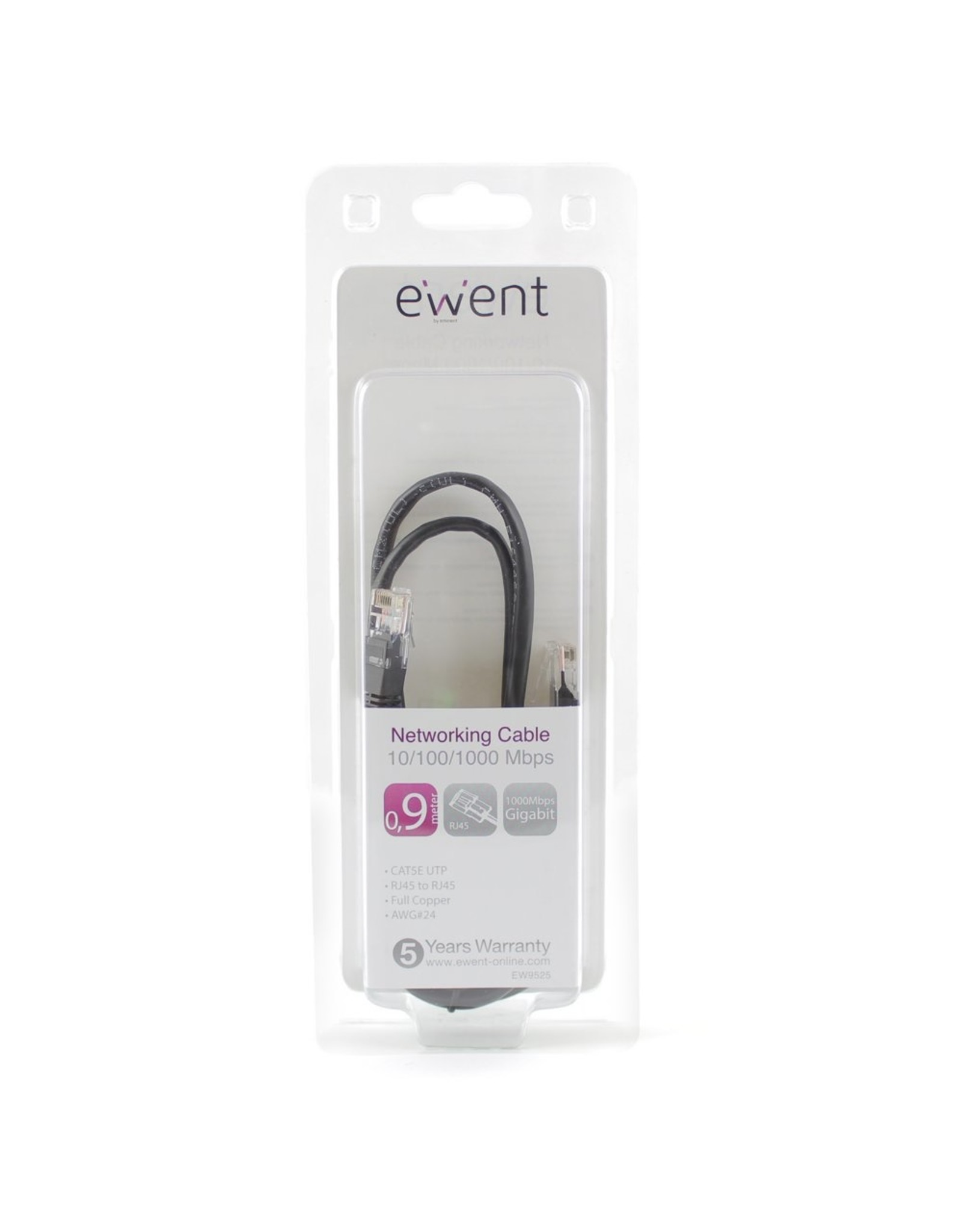 Ewent Networking Cable 0.9 Meter Black