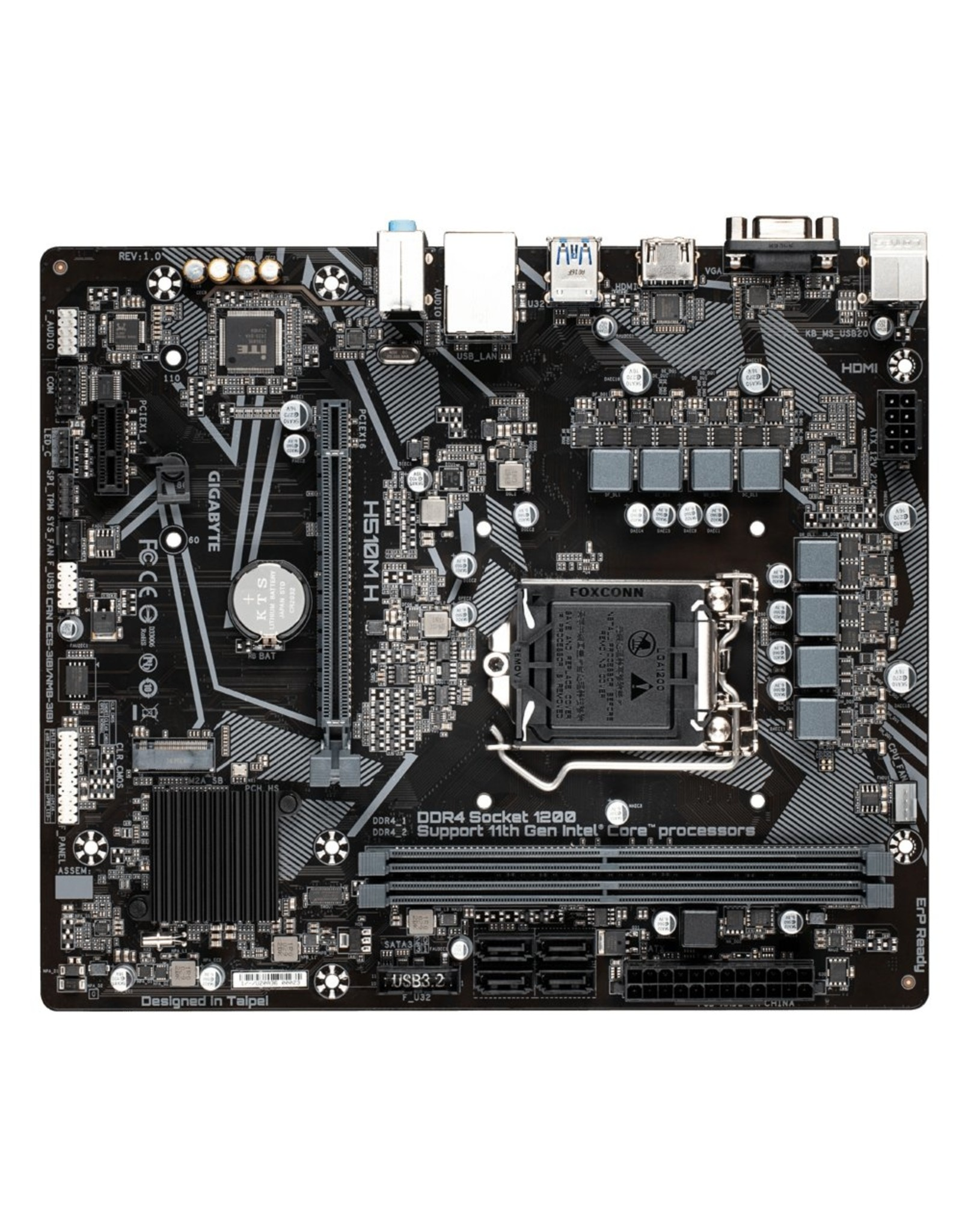Gigabyte MB  H510M / LGA1200 / M.2 / HDMI / mATX
