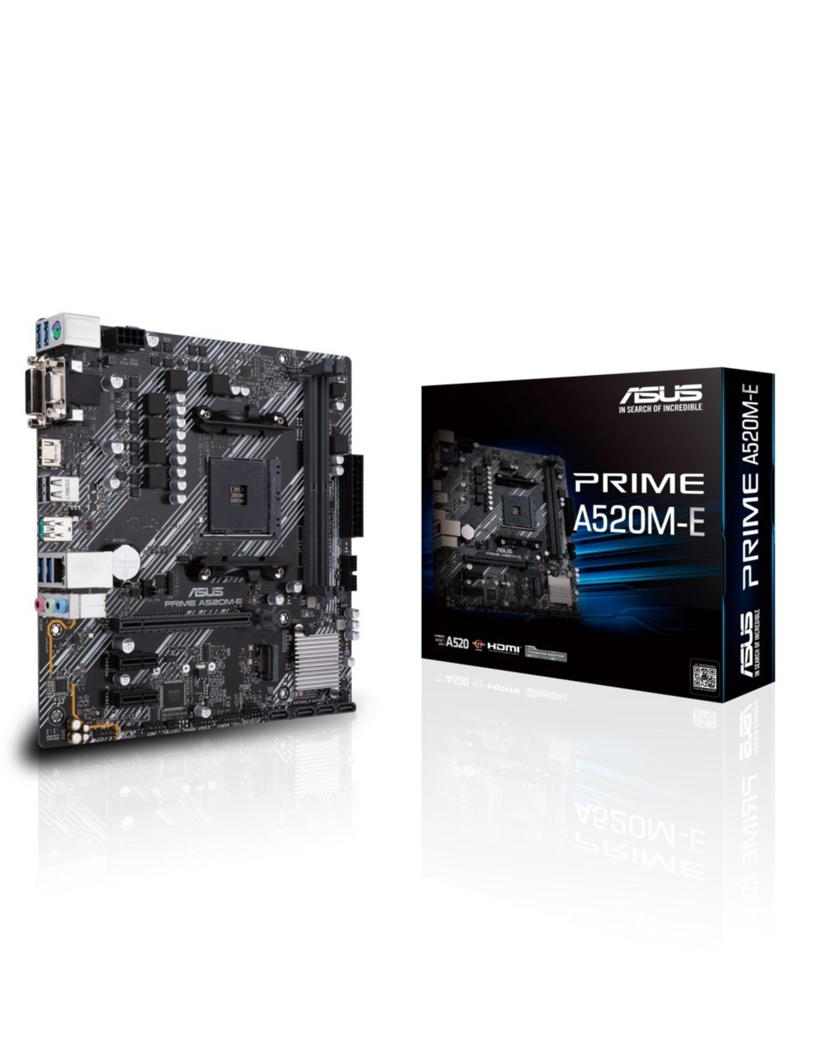 Asus MB  A520M-E AM4 / HDMI / 2x DDR4 / PCI-E / M.2 mATX