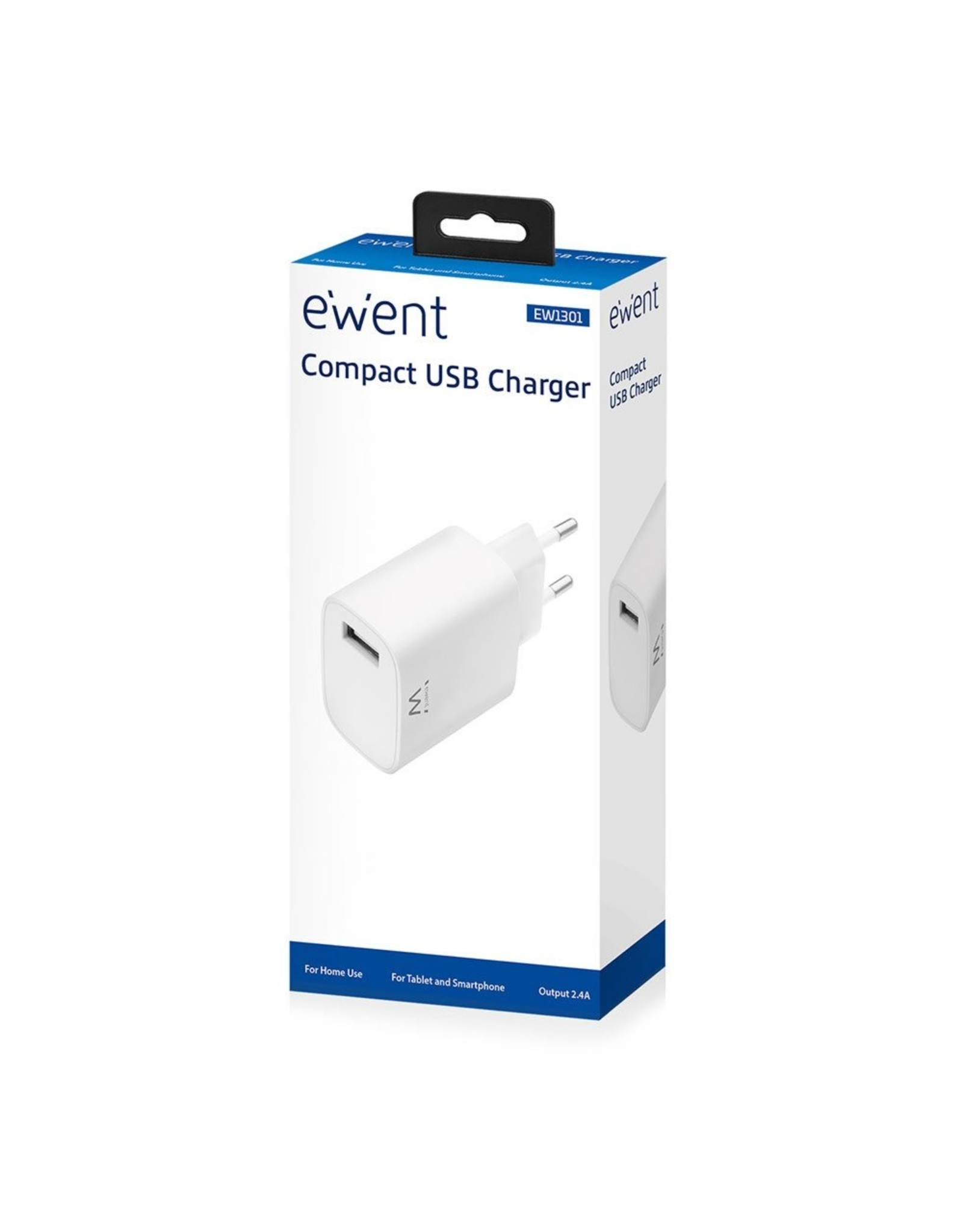 Ewent Compact USB Charger 2.4A