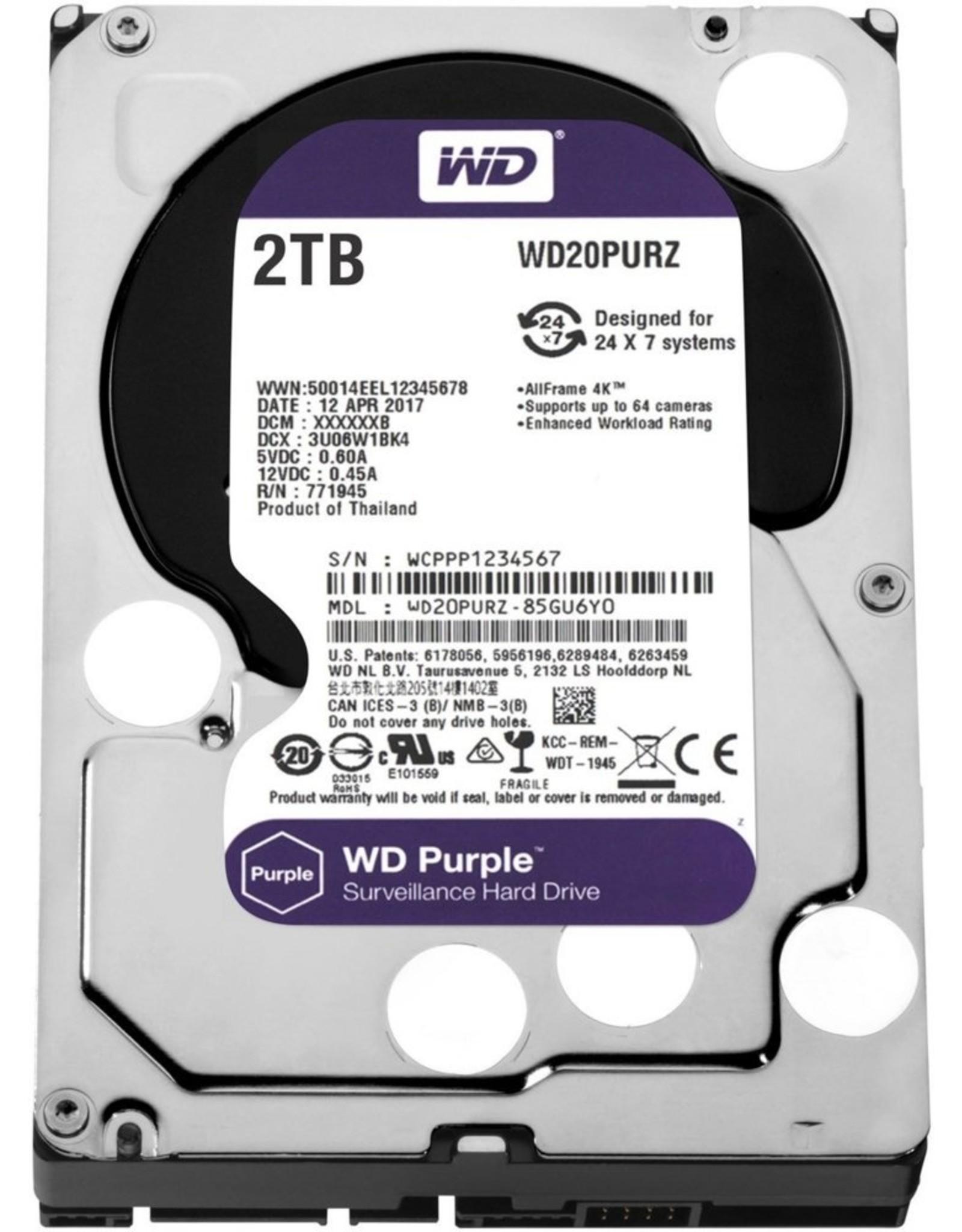 Western Digital HDD WD Purple™ 2TB IntelliPower - 64MB - SATA600 3.5inch