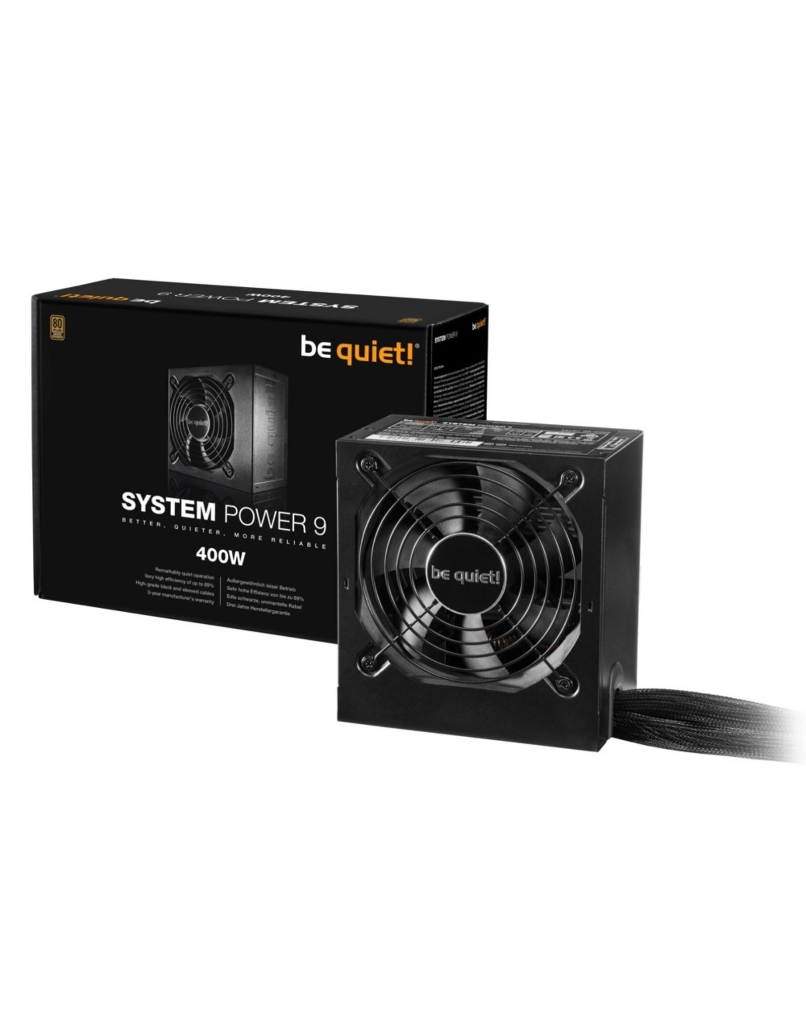 be quiet! PSU Be quiet! System Power 9 400W 20+4 pin ATX ATX Zwart