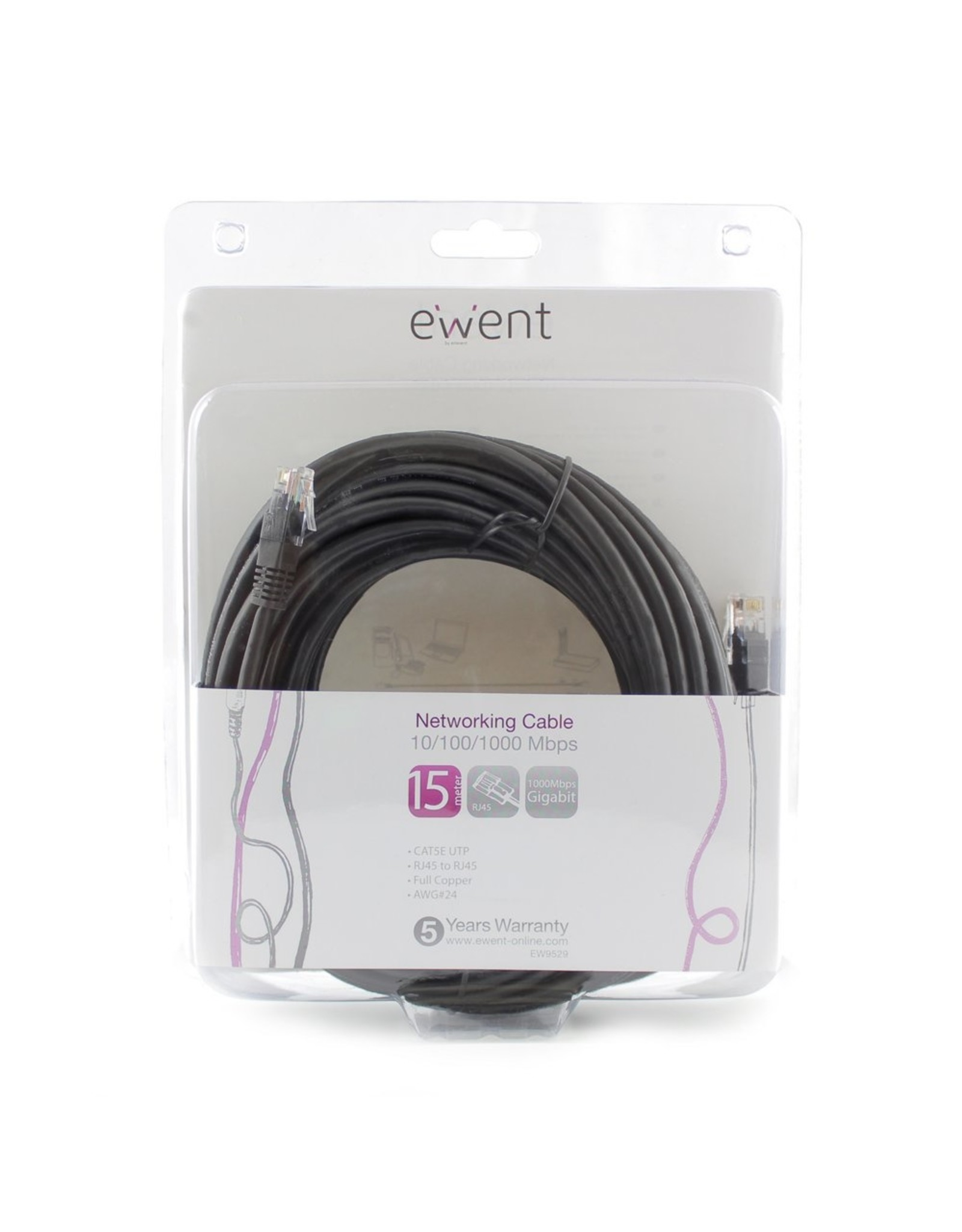 Ewent Networking Cable 15 Meter Black