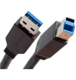 Ewent EW9623 USB-kabel 1,8 m USB 3.2 Gen 1 (3.1 Gen 1) USB A USB B Zwart