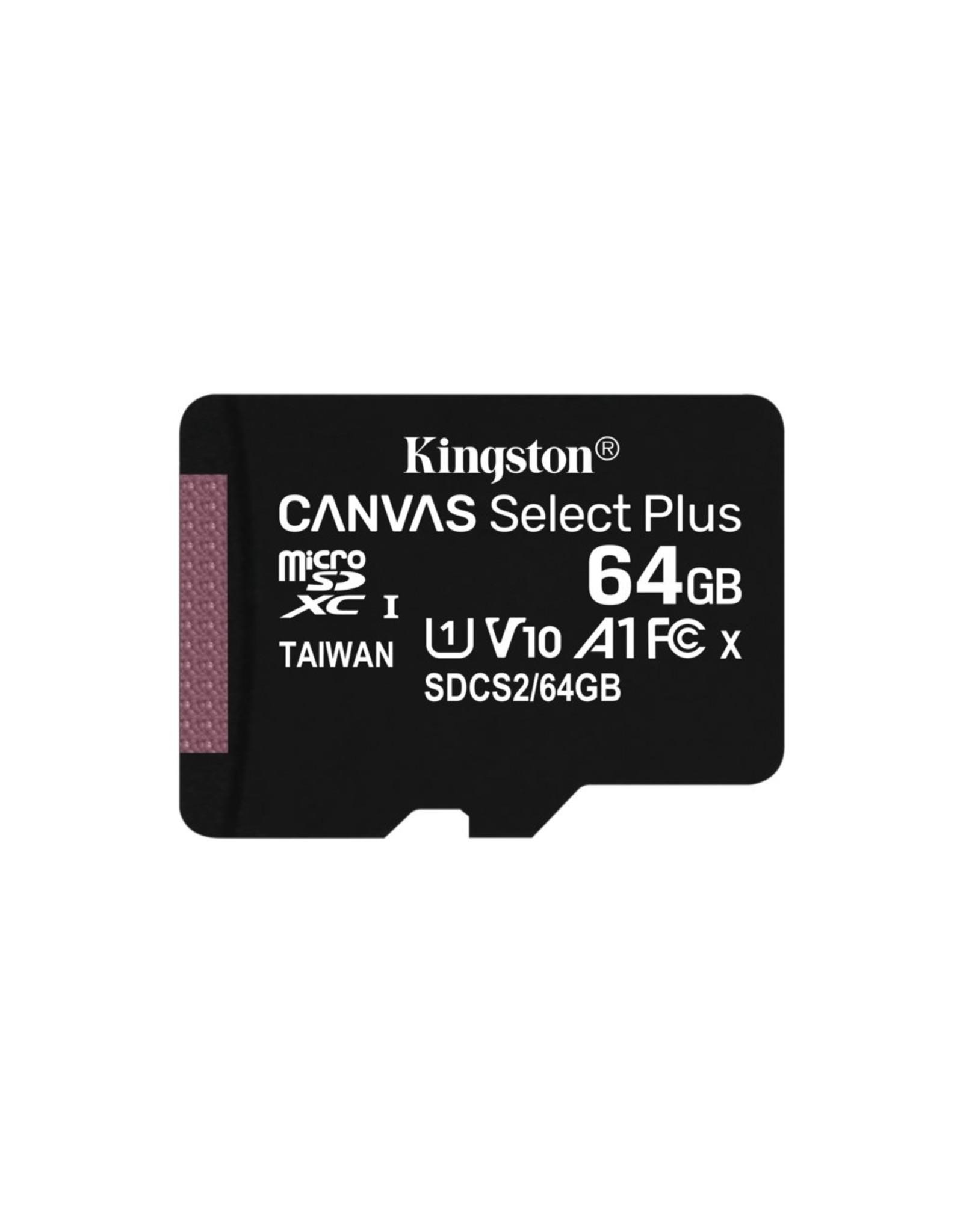 Kingston SDCARD  Canvas Select MicroSD 64GB Class10 + adapter