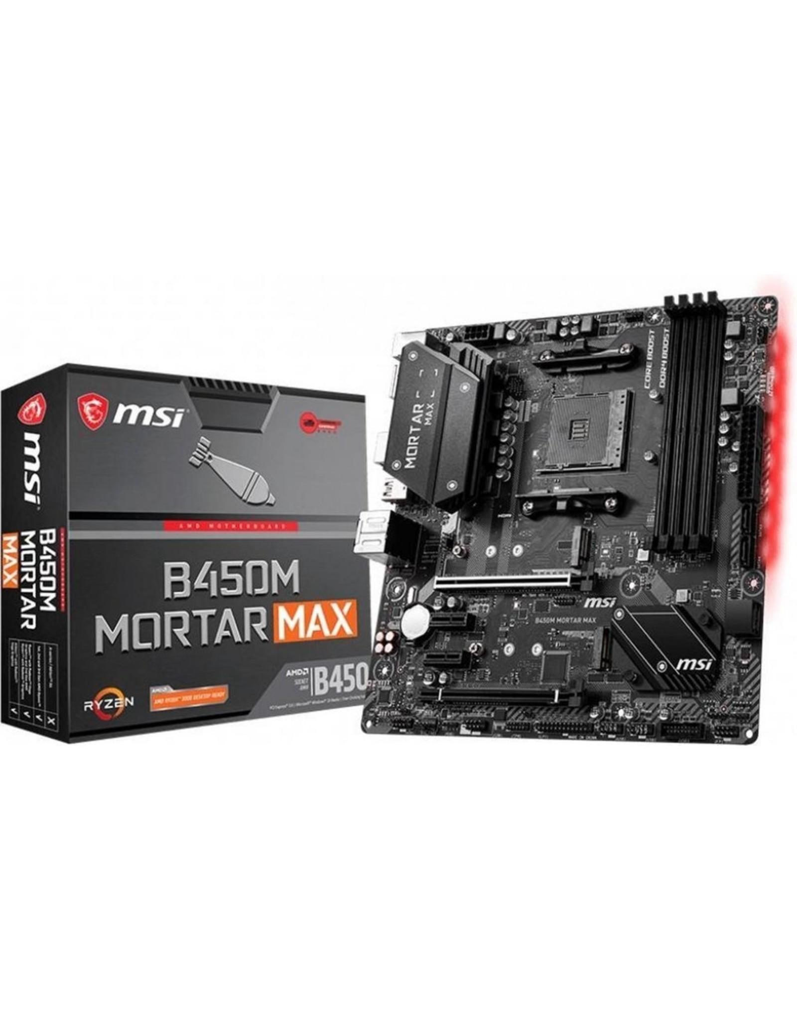 MSI MB  B450M Mortar Max Socket AM4 micro ATX AMD B450