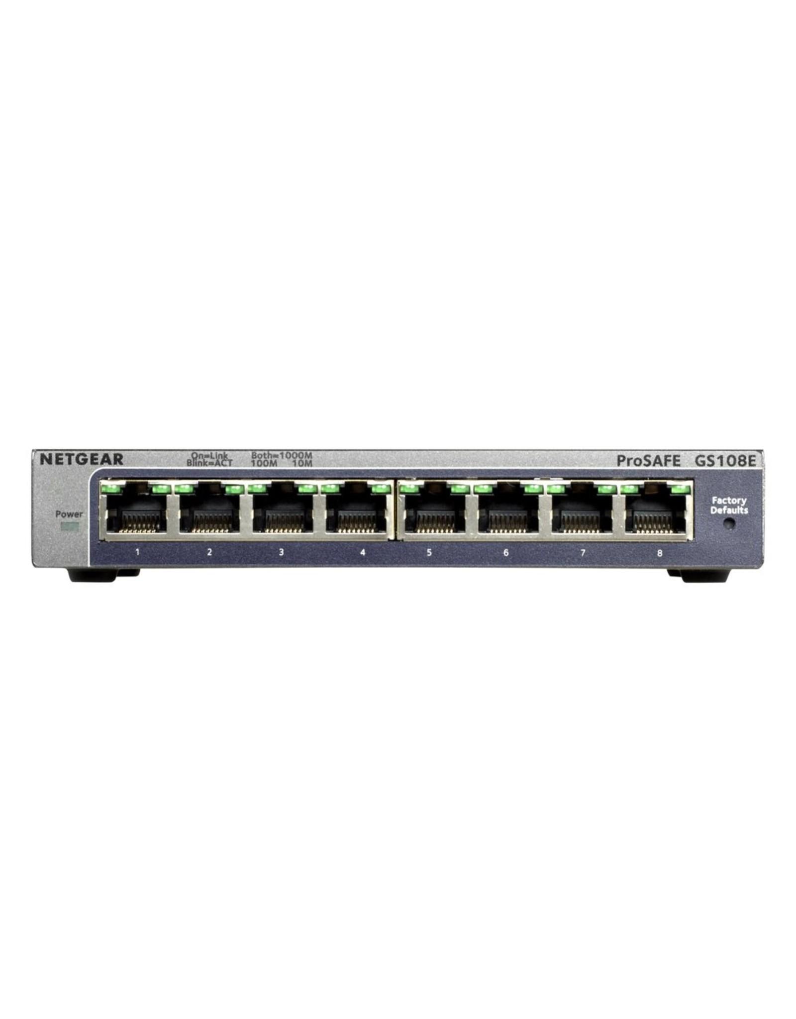 Netgear Prosafe Gigabit Plus Switch GS108Ev3