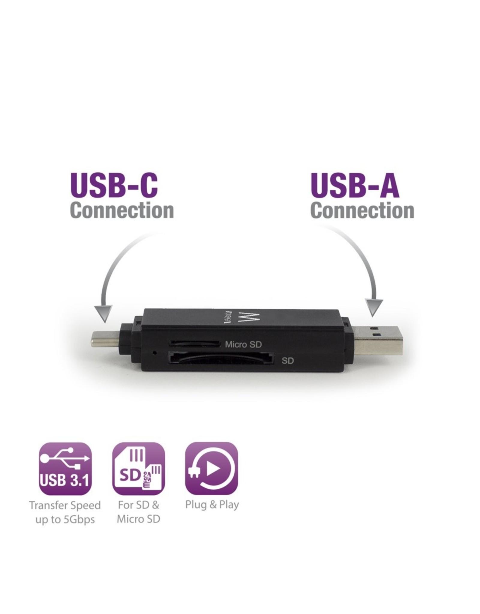 Ewent USB 3.1 Cardreader Type C / A