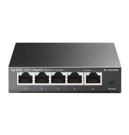TP-Link TP-LINK TL-SG105S Unmanaged L2 Gigabit Ethernet (10/100/1000) Zwart