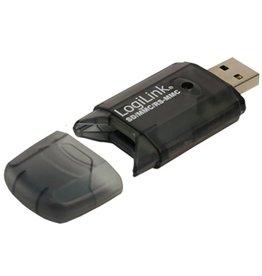 OEM LogiLink Cardreader USB 2.0 Stick external for SD/MMC geheugenkaartlezer Zwart