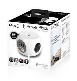 Ewent Power block 3 USB charging ports/ REFURB