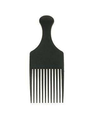Afrokam neutraal model kleur zwart