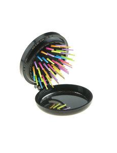 Goudhaartje Inklapbare borstel met spiegel multicolor