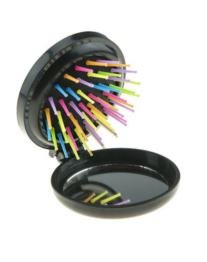 Inklapbare borstel met spiegel multicolor