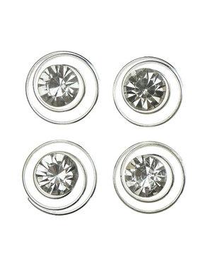 Curlies met facetsteen in de kleur transparant 4 stuks