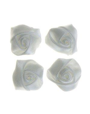 Curlies roos wit met satijn glans 4 stuks