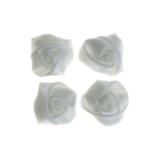 Goudhaartje Curlies roos wit met satijn glans 4 stuks