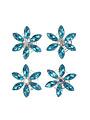Goudhaartje Curlies bloem strass blauw 4 stuks