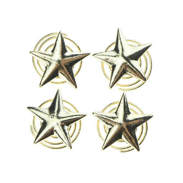 Goudhaartje Curlies met ster in de kleur goudkleurig 4 stuks