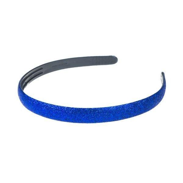Haarbeugel glitter disco look donkerblauw