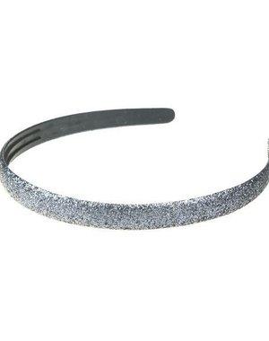 Haarbeugel glitter disco look kleur zilver