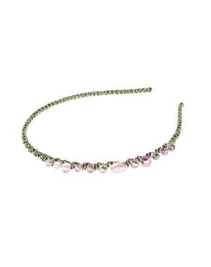 Diadeem elegant paarse stenen goudkleurig
