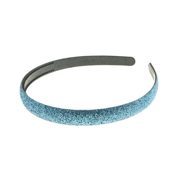 Haarbeugel glitter disco look lichtblauw